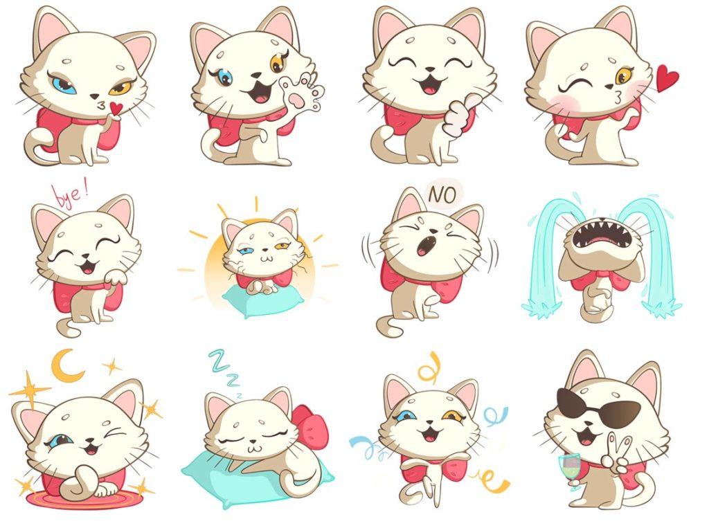 Стикеры «Nika the Cool Cat» для Telegram