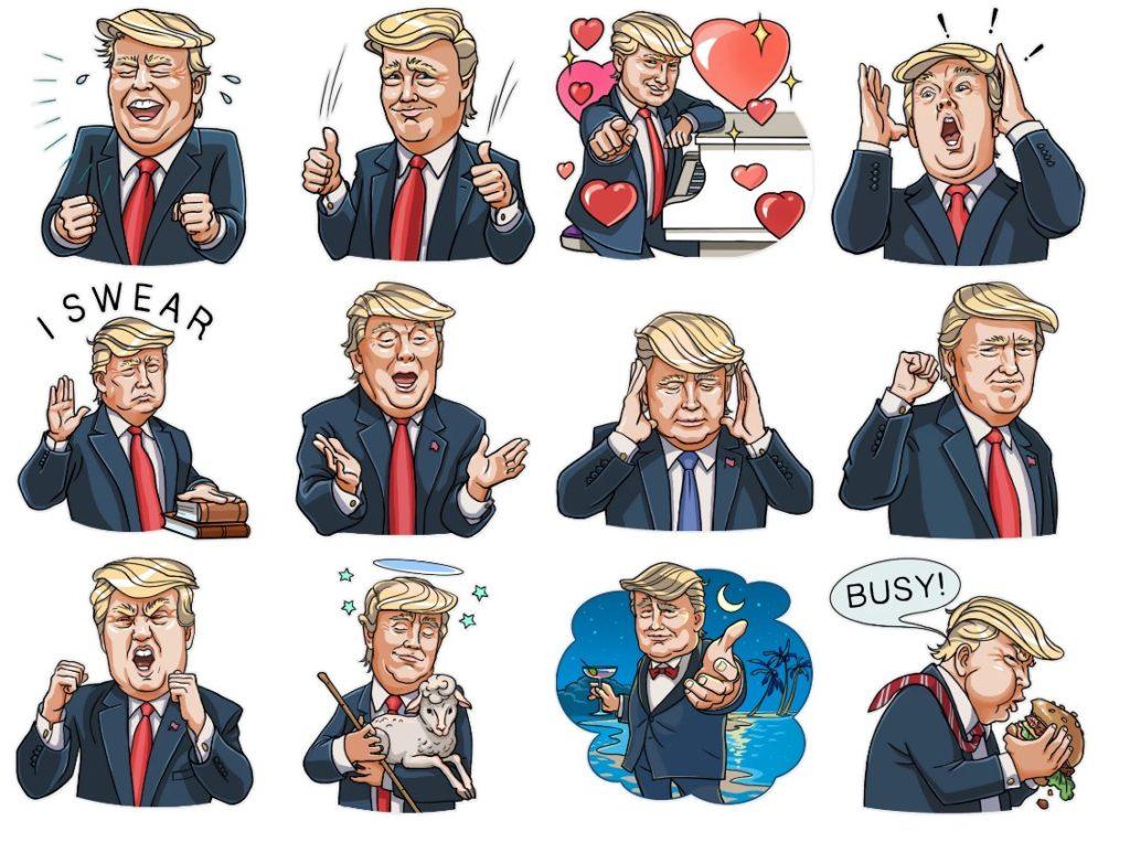 Стикеры «Трамп» для Telegram