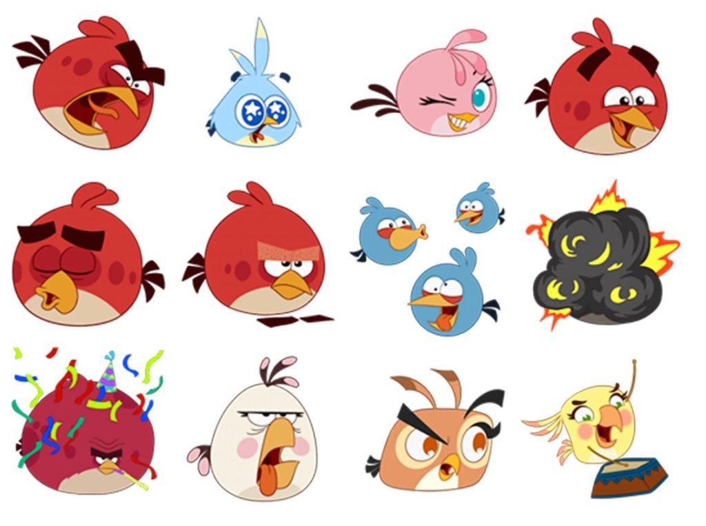Стикеры «Angry Birds» для Telegram