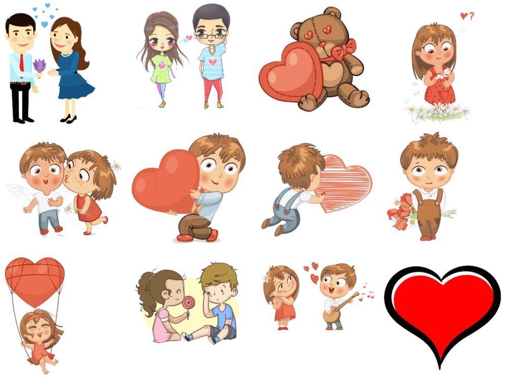 Стикеры «Любовь» для Telegram