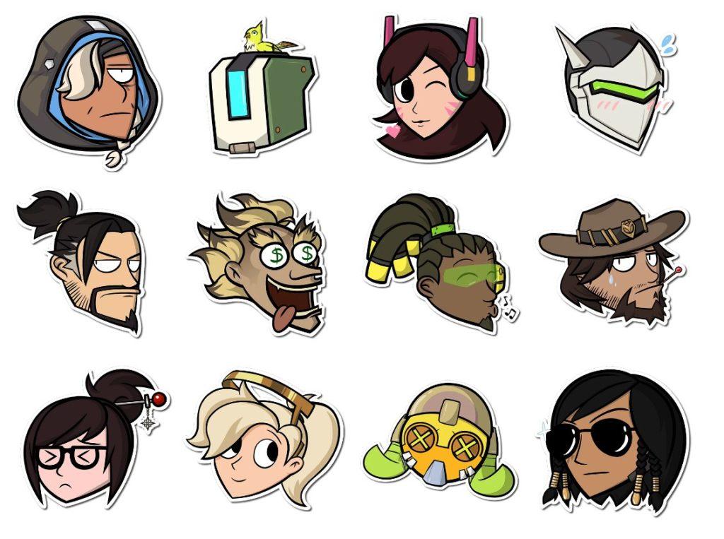Стикеры «Overwatch» для Telegram