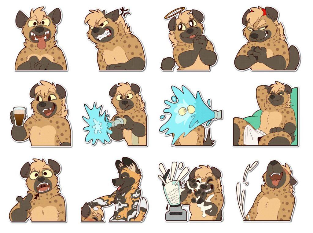 Стикеры «Spotted Hyena» для Telegram